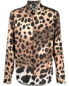 Just Cavalli animal-print button-up shirt - Brown