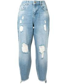 Twin-Set high-rise cropped jeans - Blue