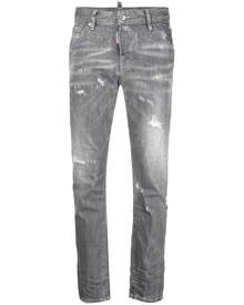 Dsquared2 distressed cropped skinny jeans - Grey