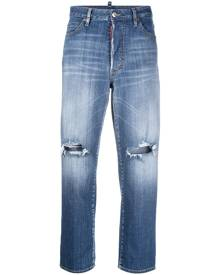 Dsquared2 ripped-detail cropped jeans - Blue