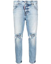 Dsquared2 distressed cropped jeans - Blue