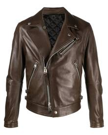 Tom Ford zip-up biker jacket - Brown