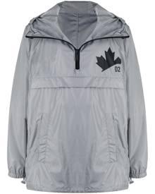 Dsquared2 logo-print half zip windbreaker - Grey
