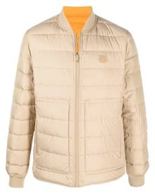 Kenzo reversible Tiger logo patch padded jacket - Neutrals