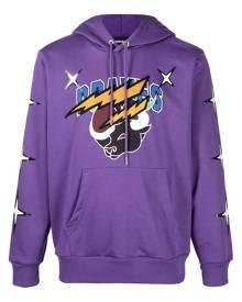 Diesel Brave logo-print drawstring hoodie - Purple