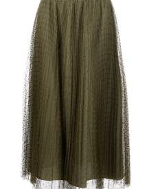 RED Valentino pleated tulle midi skirt - Green