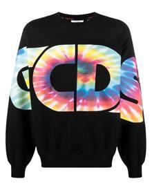 Gcds logo tie-dye print sweatshirt - Black
