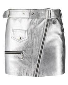 Manokhi metallic-sheen biker skirt - Grey