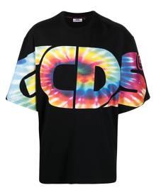 Gcds tie-dye logo oversized T-shirt - Black