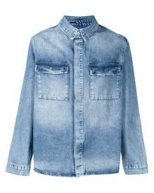 Ksubi distressed-effect denim jacket - Blue