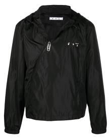 Off-White logo-print windbreaker jacket - Black