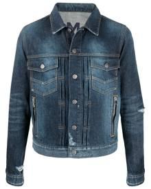 Balmain distressed-effect denim jacket - Blue