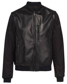 Prada nappa leather bomber jacket - Black