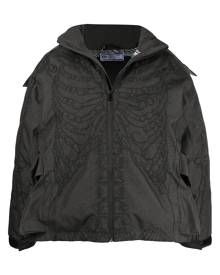 Formy Studio skeleton embroidery hooded jacket - Grey
