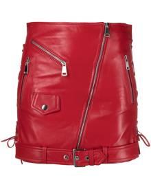 Manokhi Biker mini skirt - Red