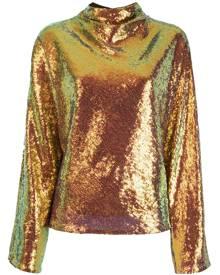 LAPOINTE cowl-neck sequin top - Metallic