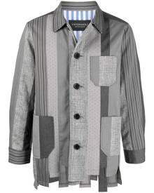 Viktor & Rolf Number 1 patchwork shirt jacket - Grey