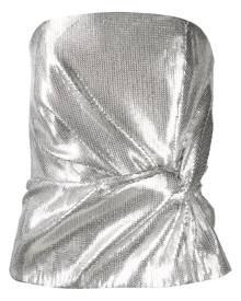 16Arlington strapless gathered sequin top - Silver