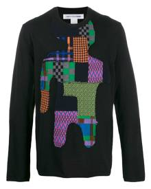 Comme Des Garçons Shirt patchwork knit jumper - Black