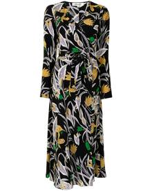 DVF Diane von Furstenberg Tilly botanical-print dress - Black