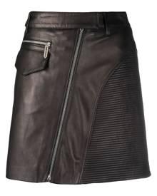 Just Cavalli high-waisted biker-style mini-skirt - Black