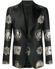 Billionaire Casino single-breasted blazer - Black