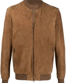 Salvatore Santoro ovine leather bomber jacket - Brown