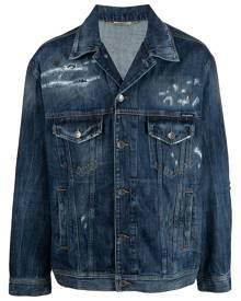 Dolce & Gabbana distressed denim jacket - Blue