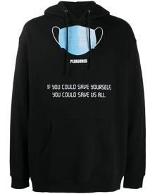 Pleasures graphic-print hoodie - Black