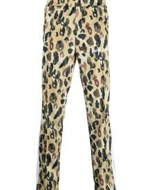 Palm Angels camouflage print track pants - Yellow