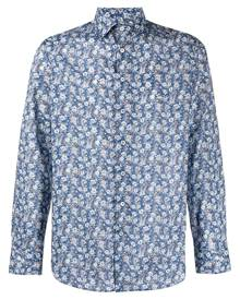 Etro all-over floral-print cotton shirt - Blue