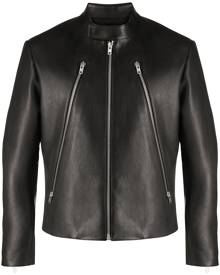 Maison Margiela zip-detail biker jacket - Black