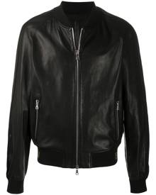 Balmain perforated bomber jacket - Black