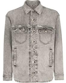 Dolce & Gabbana distressed denim shirt jacket - Grey
