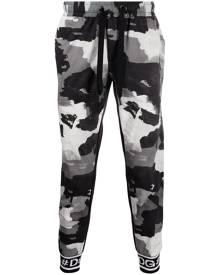 Dolce & Gabbana camouflage-print drawstring track pants - Black