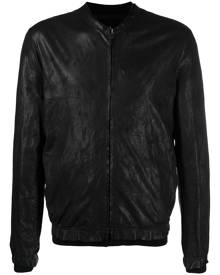 Salvatore Santoro zipped bomber jacket - Black