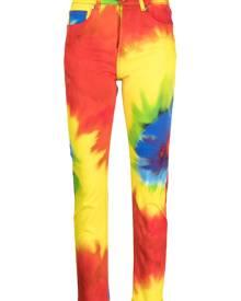Alexandre Vauthier tie-dye straight leg jeans - Red
