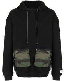 Mostly Heard Rarely Seen patch pocket hoodie - Black
