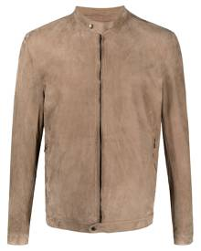 Salvatore Santoro zipped bomber jacket - Neutrals