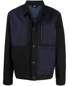 Diesel patchwork denim shirt jacket - Black