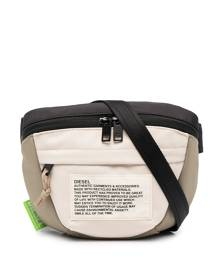 Diesel logo patch belt bag - Neutrals