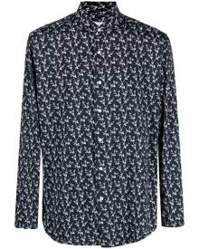 Orian all-over floral print shirt - Black