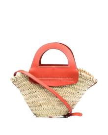 Hereu small straw tote bag - Neutrals