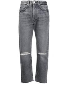 Rag & Bone distressed cropped jeans - Grey