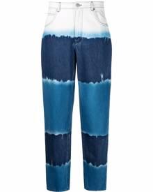 Alberta Ferretti tie dye tapered jeans - Blue
