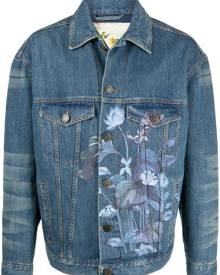 Etro floral-print cotton denim jacket - Blue