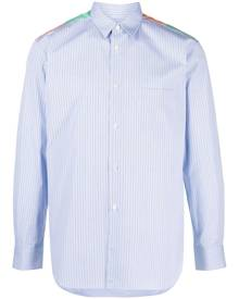Comme Des Garçons Shirt striped patchwork shirt - Blue