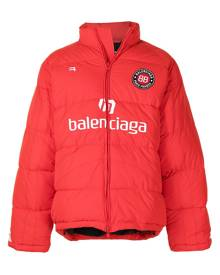 Balenciaga Soccer Puffer padded jacket - Red