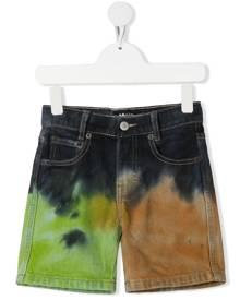 Molo Kids tie-dye denim shorts - Blue