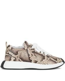 Giuseppe Zanotti Ferox snakeskin print sneakers - Brown